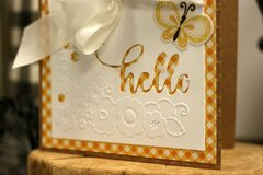 *Jillibean Soup* Hello Cut and Emboss Card Detail