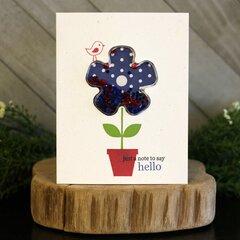 *Jillibean Soup* Say Hello Flower Shaker Card
