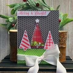 *Jillibean Soup* Merry & Bright Tree Christmas Shaker Card