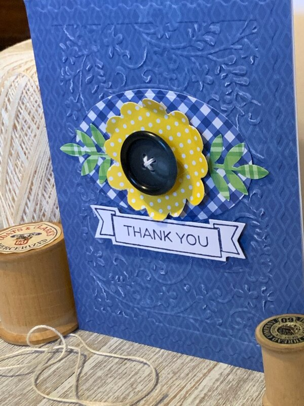 *Hampton Art* Thank You Cut & Emboss Card