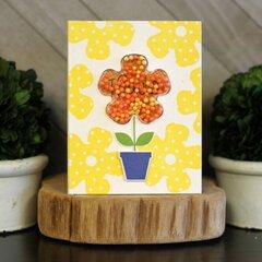 *Jillibean Soup* Flower Shaker Thanks Card