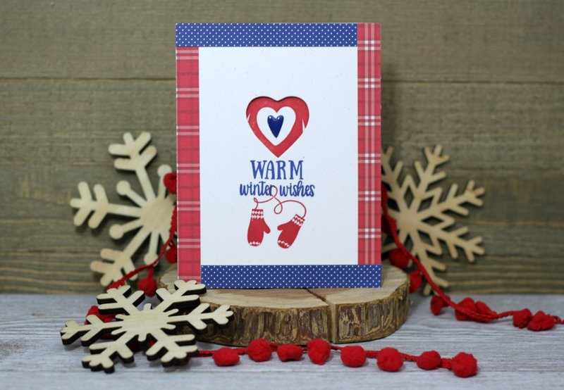 *Jillibean Soup* Warm Wishes Mitten Card