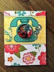 Hello Phone Shaker Card