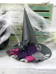 *Jillibean Soup* Felt Flower Witches Hat- Detail 2