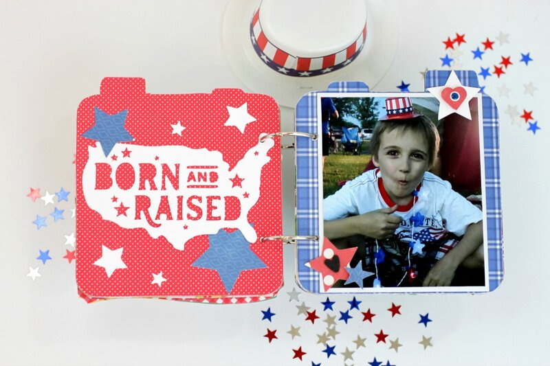 *Jillibean Soup* Celebrate America Mini Album Pages 2-3