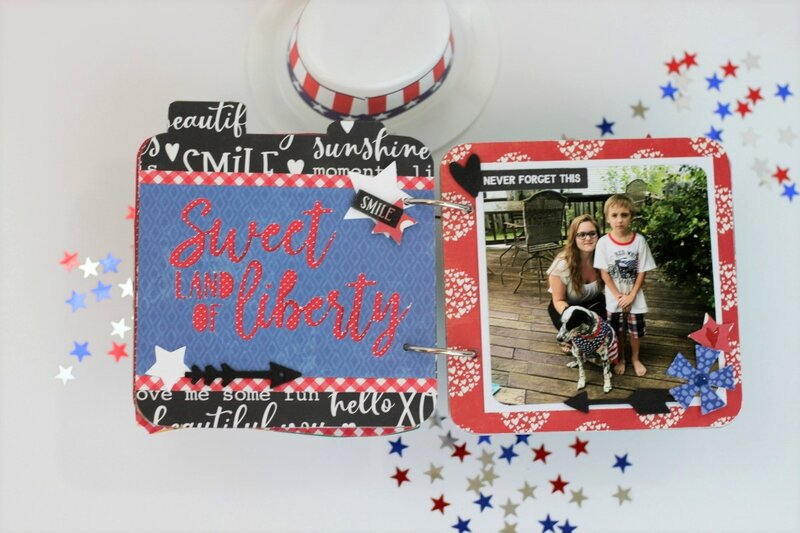 *Jillibean Soup* Celebrate America Mini Album Pages 4-5