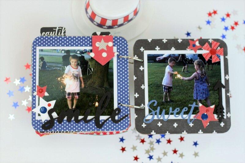 *Jillibean Soup* Celebrate America Mini Album Pages 6-7