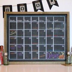 *Jillibean Soup* DIY Chalkboard Calendar Frame