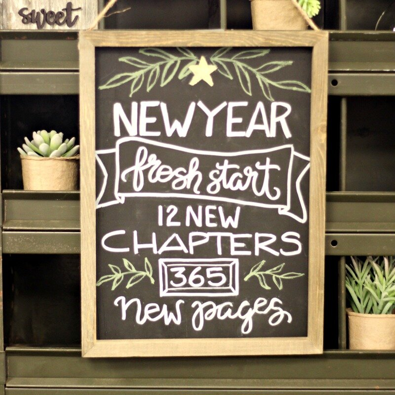 *Jillibean Soup* New Year Fresh Start Chalkboard