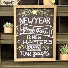 *Jillibean Soup* New Year Fresh Start Chalkboard