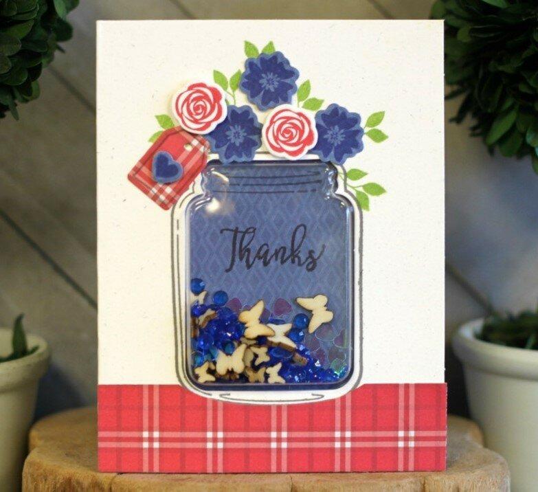 *Jillibean Soup* Thanks Butterfly Shaker Card