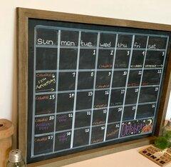 *Jillibean Soup* DIY Chalkboard Calendar Frame Sideview