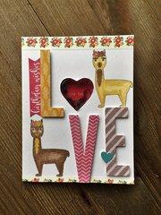 Llama Love Card