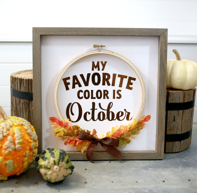 *Jillibean Soup* My Favorite Color is October Frame