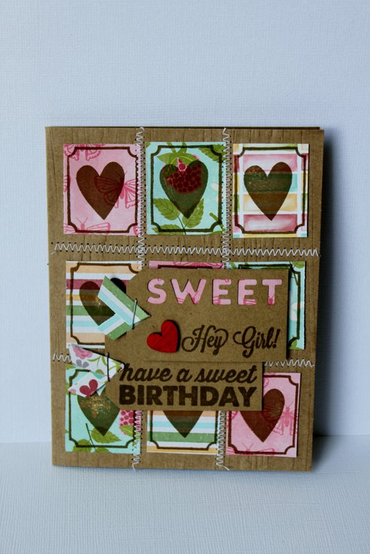 Patchwork Sweet Birthday Card
