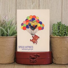 *Hampton Art* Spread Happiness Shaker Card