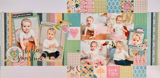 *Jillibean Soup* First Birthday Double Layout