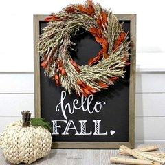 *Jillibean Soup* Hello Fall Chalkboard Frame