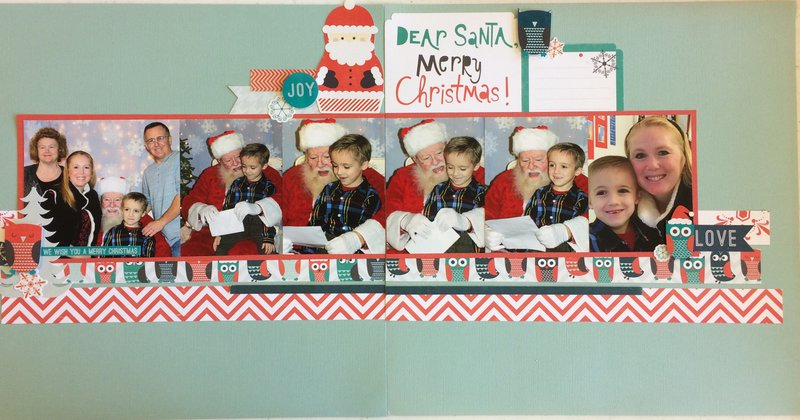 Dear Santa Double Layout detail