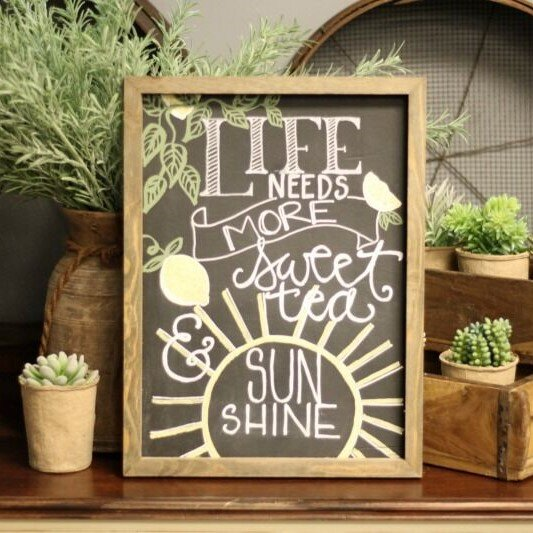 *Jillibean Soup* Sweet Tea & Sunshine Chalkboard