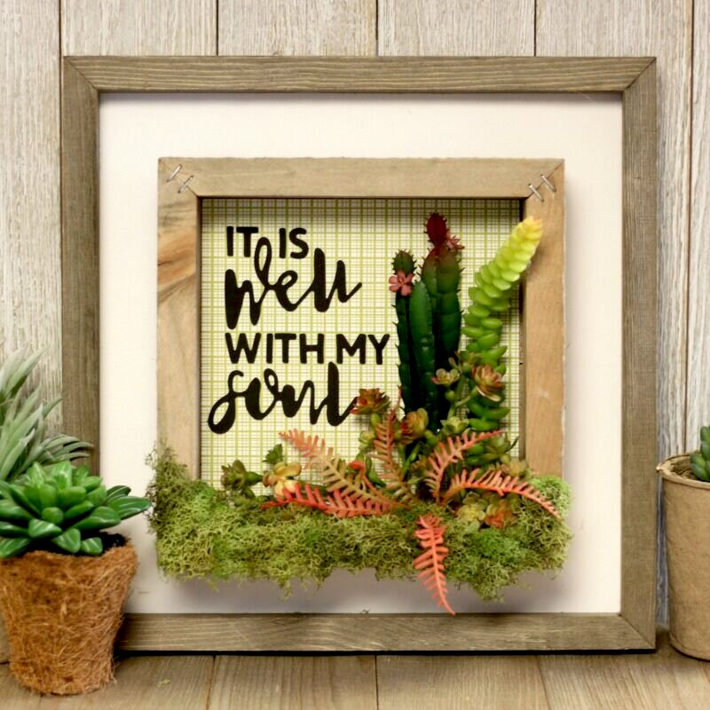 *Jillibean Soup* It is Well With My Soul Terrarium Double Frame