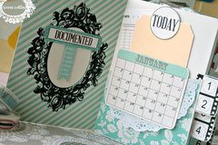 *Teresa Collins* Planner using stitched notebook