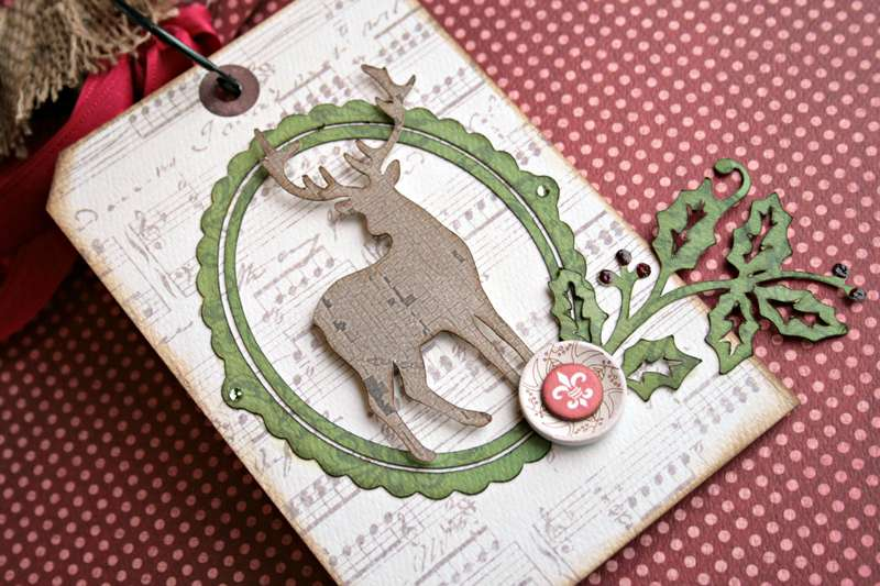*Teresa Collins Christmas Cottage mini tag book pg.2