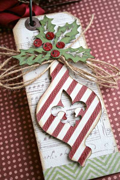 *Teresa Collins Christmas Cottage mini tag book pg.3