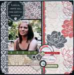 Scrapbook Layout with Teresa Collins Fabrications Linen
