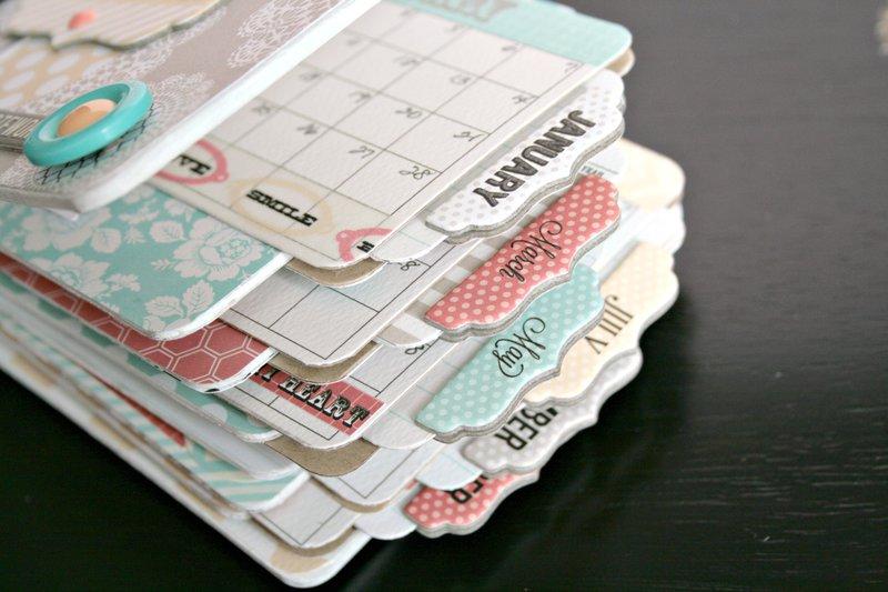 Calendar Mini Book *Teresa Collins* Memories Collection