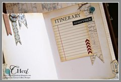 *Teresa Collins Far & Away mini journal book