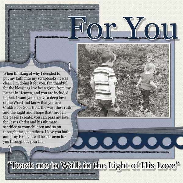 For You - Faith Sisters Weekly Challenge