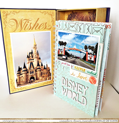 Disney World mini album in a photo box