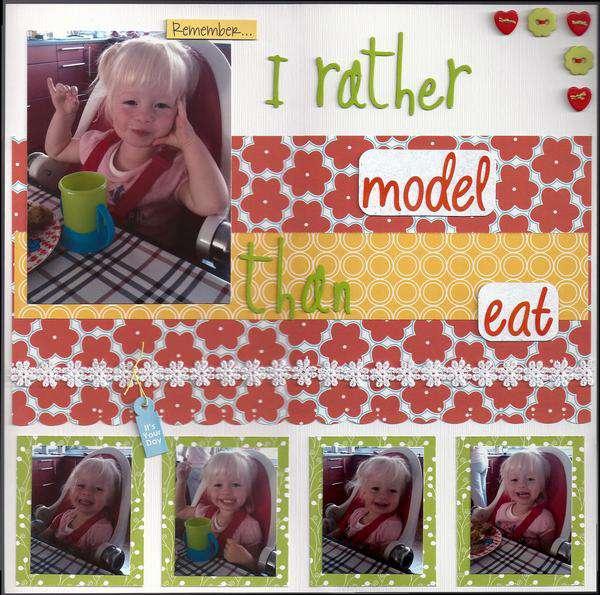 I rather model than eat