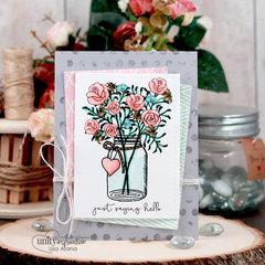 Hello Jar of Flowers