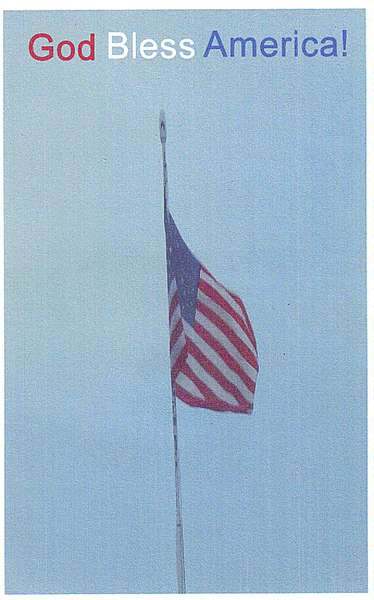 God Bless America!  JFF card