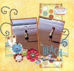 At the Beach**Sneak Peek Imaginisce Summer Cool Collection