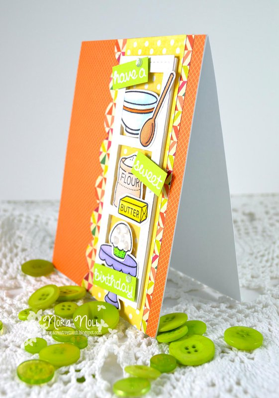 """Sweet Birthday ****Lawn Fawn """"Baked With Love"""""""