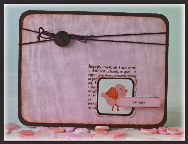 Wish Card ***Echo Park Little Girl Collection