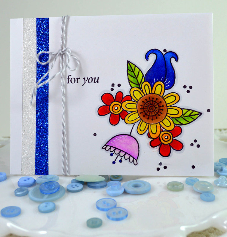 For You ***Jane's Doodles-Doodle Flowers