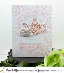 Serendipi-tea Stamp and Teapot Fri-Dies