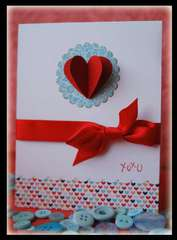 Floating Heart Card
