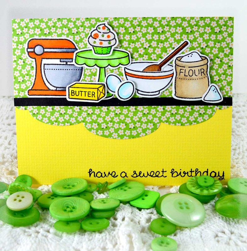 "Have A Sweet Birthday ***Lawn Fawn ""Baked With Love"""