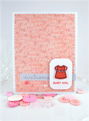 Welcome Baby Girl ***Lawn Fawn Little Bundle Set