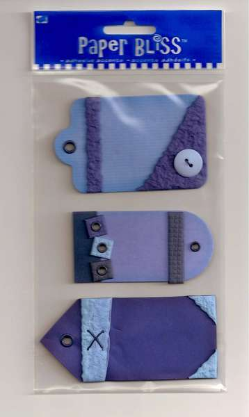 Paper Bliss blue textured tags