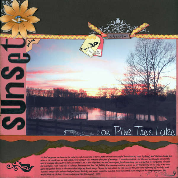 Sunset on Pine Tree Lake