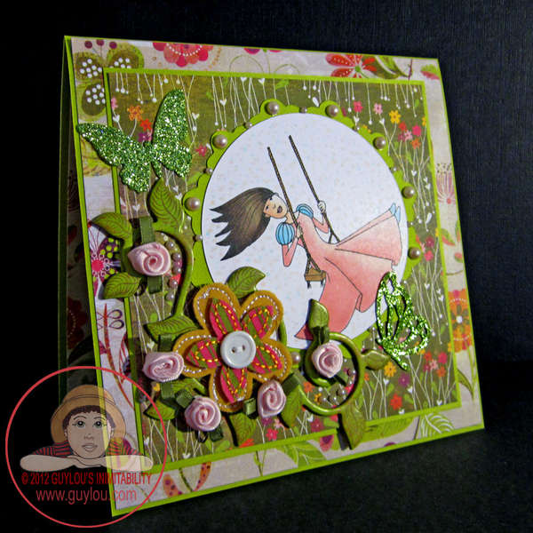 Swirls and Pearls at Guylou's - Card