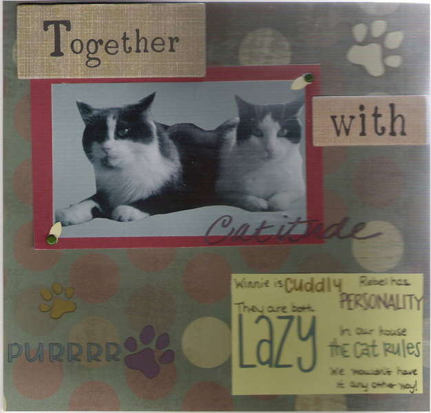 two page layout for pet circle journal