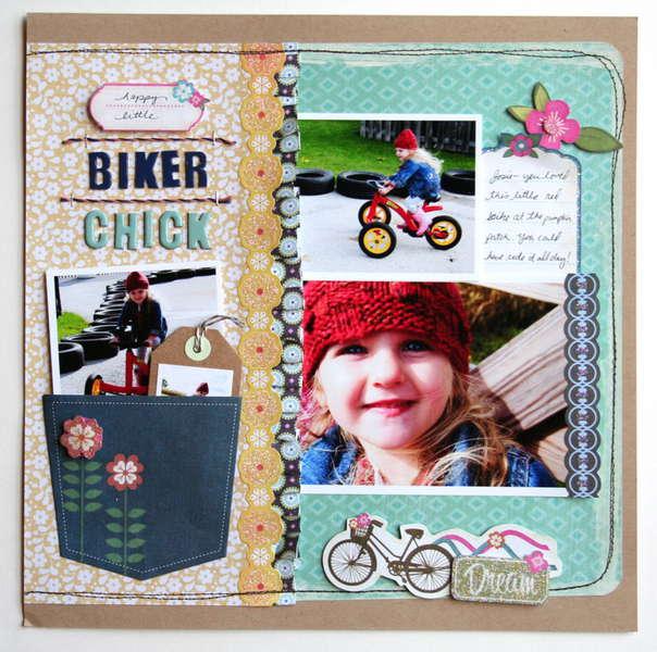 """Biker Chick"" Grant Studios"
