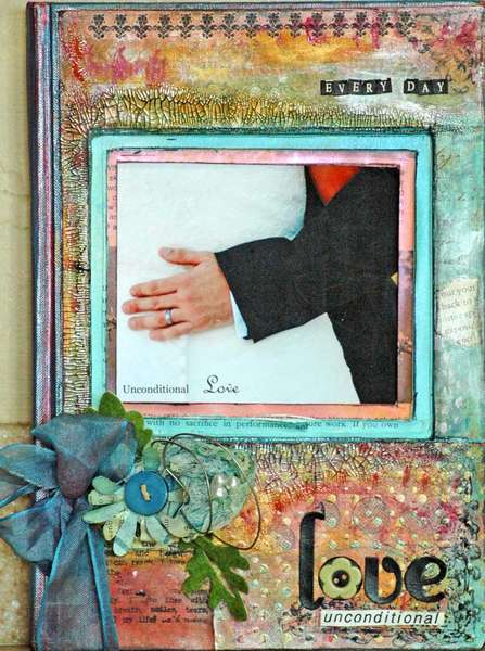 Unconditional Love- Altered book